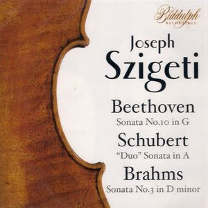 Szigeti Conducts Beethoven Schubert Brahms Heiss