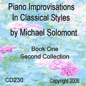 Piano Improvisations in Classical Styles By Michael Solomont