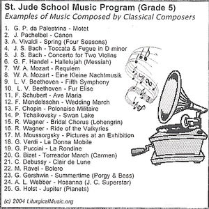 St. Jude School Music Program