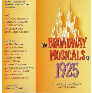 Broadway Musicals Of 1925
