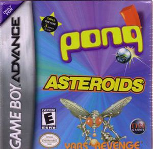 Asteroids/ Pong/ Yar's Revenge for Gameboy Advanced