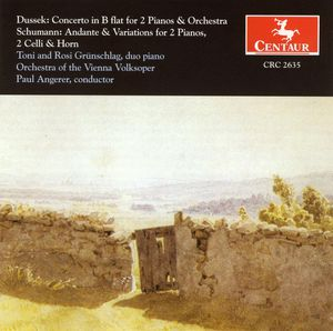 Concerto for 2 Pianos & Orch /  Andante & Variation