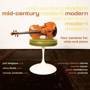 Mid-Century Modern-Four Sonatas for Viola & Piano