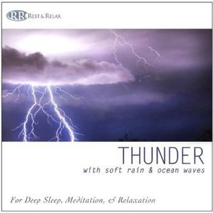 Thunder: With Soft Rain & Ocean Waves Thunderstorm