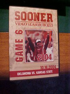 Sooner Video Season Ticket: Game 6