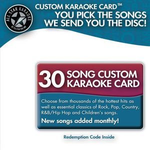Karaoke: 30 Song Custom Karaoke Card
