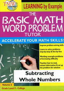 Basic Math Word Problms: Subtracting Whole Numbers