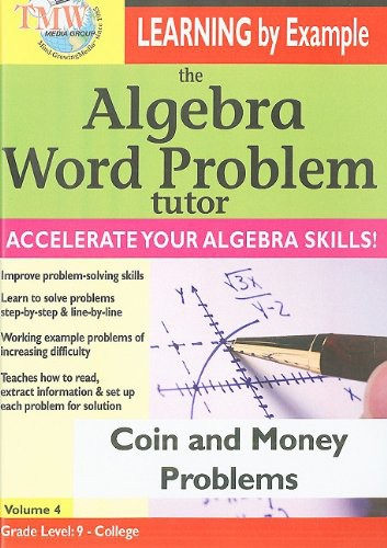 Algebra Word Problem Tutor: Coin & Money Problems