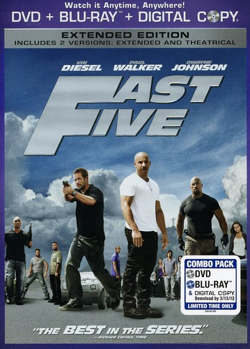 Fast Five [WS] [Slipsleeve] [Rated/ Not Rated Versions] [DVD/ Blu-ray/ Digital Copy Combo]
