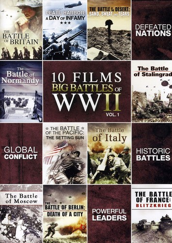 10-Film Big Battle Of WwII, Vol. 1 [Full Frame]