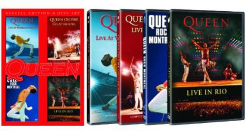 Live at Wembly /  Rock Montreal /  Live in Rio / Queen on Fire – Live at the Bowl