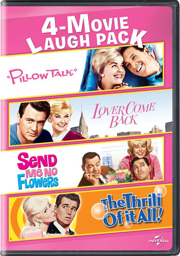 4-Movie Laugh Pack: Pillow Talk/ Lover Come Back/ Send Me No Flowers/ The Thrill of It All!