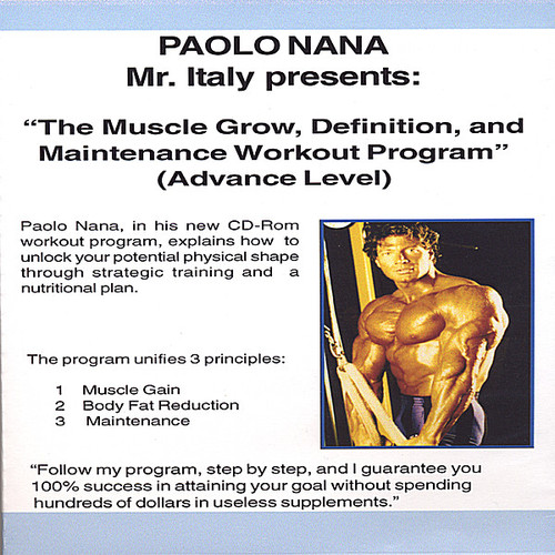 Muscle Grow Definiton & Maintenance Workout Program