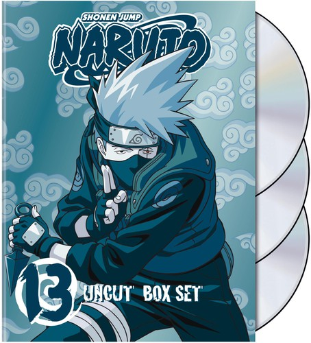 Naruto Uncut Box Set, Vol. 13 [Standard] [Digipak] [Slipcase] [With Trading Cards] [3 Discs] [Special Edition] [Limited Edition] [With Kakashi Figure]