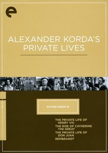 Alexander Korda's Private Lives (Eclipse Series 16)