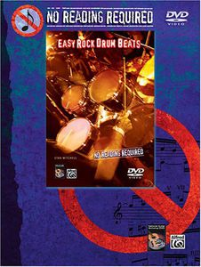 No Reading Required: Easy Rock Drum Beats [Instructional]