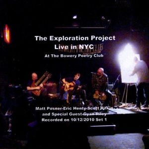 Exploration Project Live in NYC at the Bowery Poet