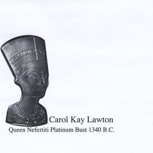 Queen Nefertiti Platinum Bust 1340 B.C.