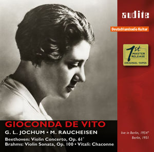 Gioconda De Vito Plays Beethoven Brahms & Vitali