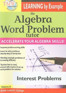 Algebra Word Problem Tutor: Interest Problems