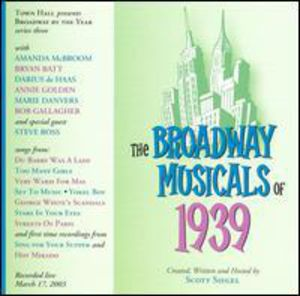 Broadway Musicals of 1939 /  O.C.R.