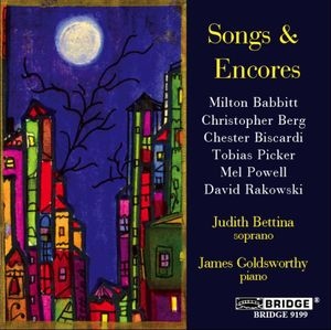 Songs & Encores a Recital of American Song
