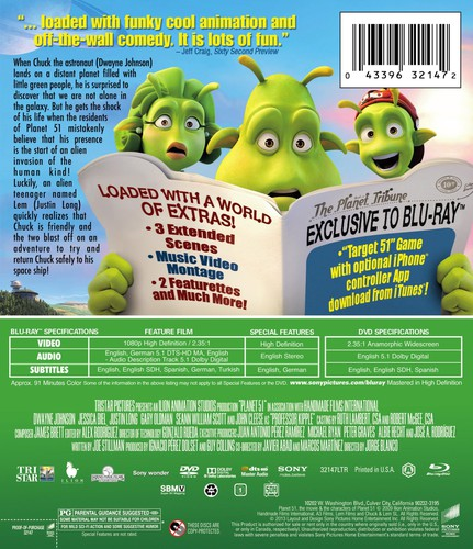 Planet 51 [Widescreen] [Blu-Ray/ DVD Combo] [Digital Copy] [2 Discs]