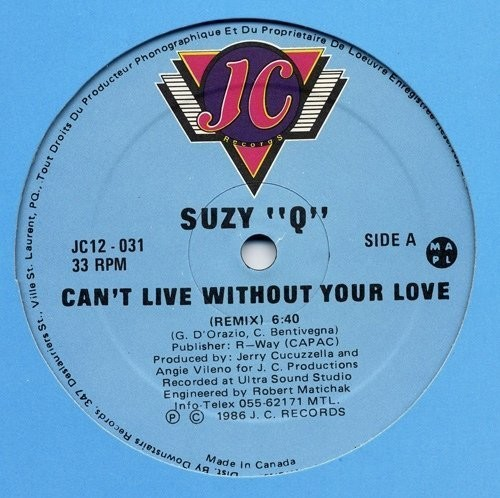 Can't Live Without Your Love [Import]