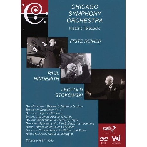 Chicago Symphony Orchestra: Historic Telecasts: Fritz Reiner /  Leopold Stokowski /  Paul Hindemith