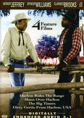 4 Feature Films: Harlem Rides The Range/ Moon Over Harlem/ The BigTimers/ Dirty Gertie From Harlem, USA
