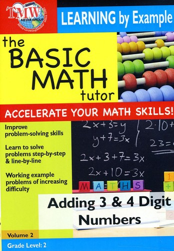 Basic Math Tutor: Adding 3 and 4 Digit Numbers