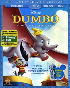 Dumbo [70th Anniversary Edition] [FS] [Foil O-Sleeve] [Blu-ray/ DVD Combo Pack]
