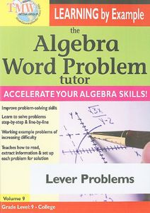 The Algebra Word Problem Tutor: Lever Problems