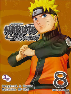 Naruto Shippuden Uncut Set, Vol. 8 [Widescreen] [3 Discs]