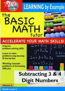 Basic Math Tutor: Subtracting 3 and 4 Digit Numbers