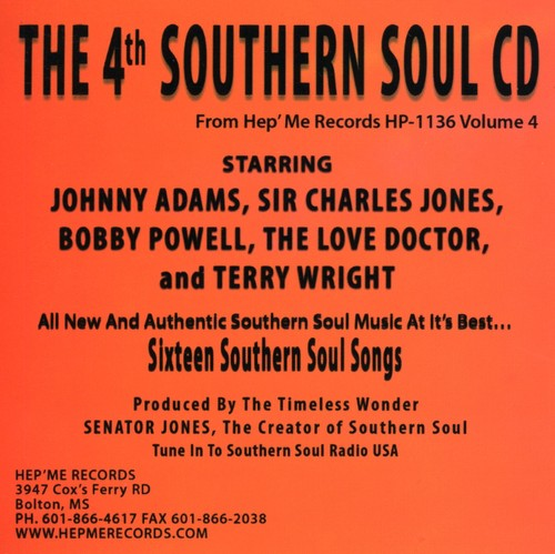 4th Southern Soul Cd-Vol-Four