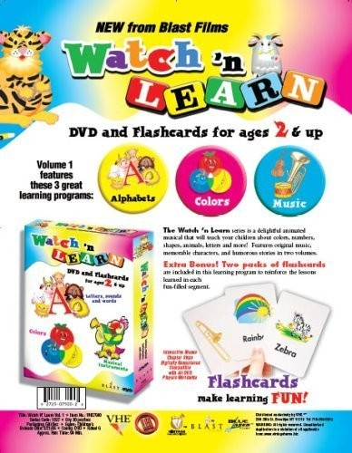 Vol. 1-DVD & Flashcards for Ages 2 & Up