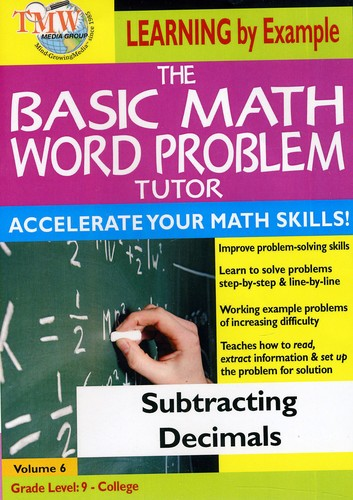 Basic Math Word Problms: Subtracting Decimals