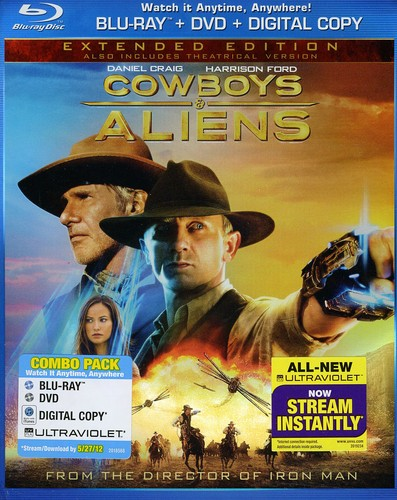 Cowboys and Aliens [WS] [Blu-ray/ DVD/ Digital Copy] [Rated/ Unrated] [Extended Edition] [Slipsleeve]