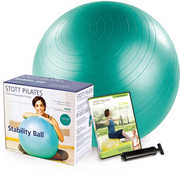 STOTT PILATES Stability Ball (25 inch /  65 cm) Plus Kit with DVD