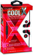 Coby CVE-145-RED Cool X Tangle Free Plastic Earbuds W/ Mic