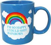 I Shit Rainbows Foil Mug (16oz)
