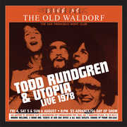 Live At The Old Waldorf , Todd Rundgren & Utopia