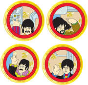 Beatles Yellow Submarine 4 pc. 8 in. Ceramic Plate Set