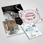 Fantasy Classics 4 Coloring Books