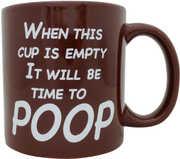 Time To Poop Mug (22 oz)