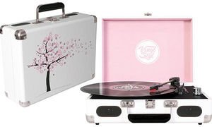 Vinyl Styl™ Groove Portable 3 Speed Turntable (Cherry Blossom)