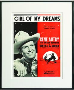 Girl of My Dreams Framed Sheet Music