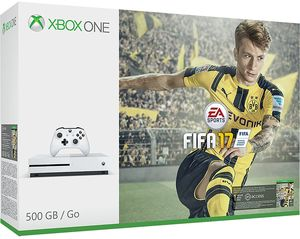 Microsoft Xbox One S 500GB Console: White - FIFA 17 Bundle