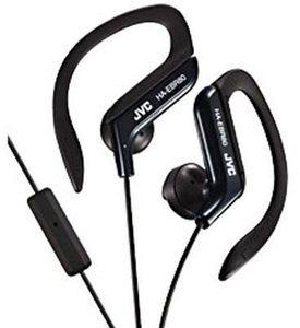 "JVC Ha-Ebr80-B Black ""Sport Clip""Headphones W/ Mic"